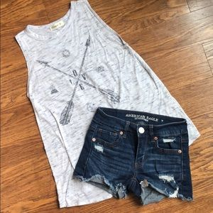 American Eagle 00 shorts/Ginger G sleeveless top